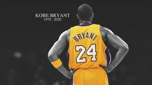 Kobe Bryant Black Mamba 8 24 Lakers Silk Poster Wallpaper 24 X 13 Inches Ebay