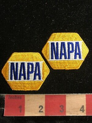 2 Patches NOS 1990s NAPA Auto Parts Store Advertising Patch Lot Yellow 00RM