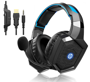 HP Wired Headset with LED Noise Cancelling Mic HP Over ear Gaming Headphone PS4