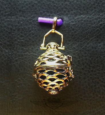 Engelsrufer Klangkugel Harmony Ball 925 silber,24 Karat vergoldet,Kugel schwarz