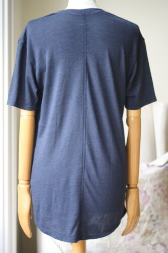 8 Raquel Tee Allegra Navy Shredded Size Top Uk 0 8rwO8tq