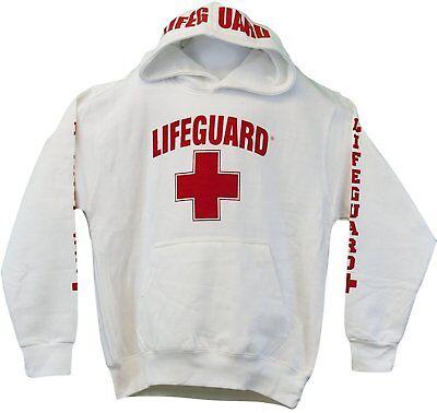 LIFEGUARD Kids Miami Beach Florida Life Guard Sweatshirt Red Hoodie