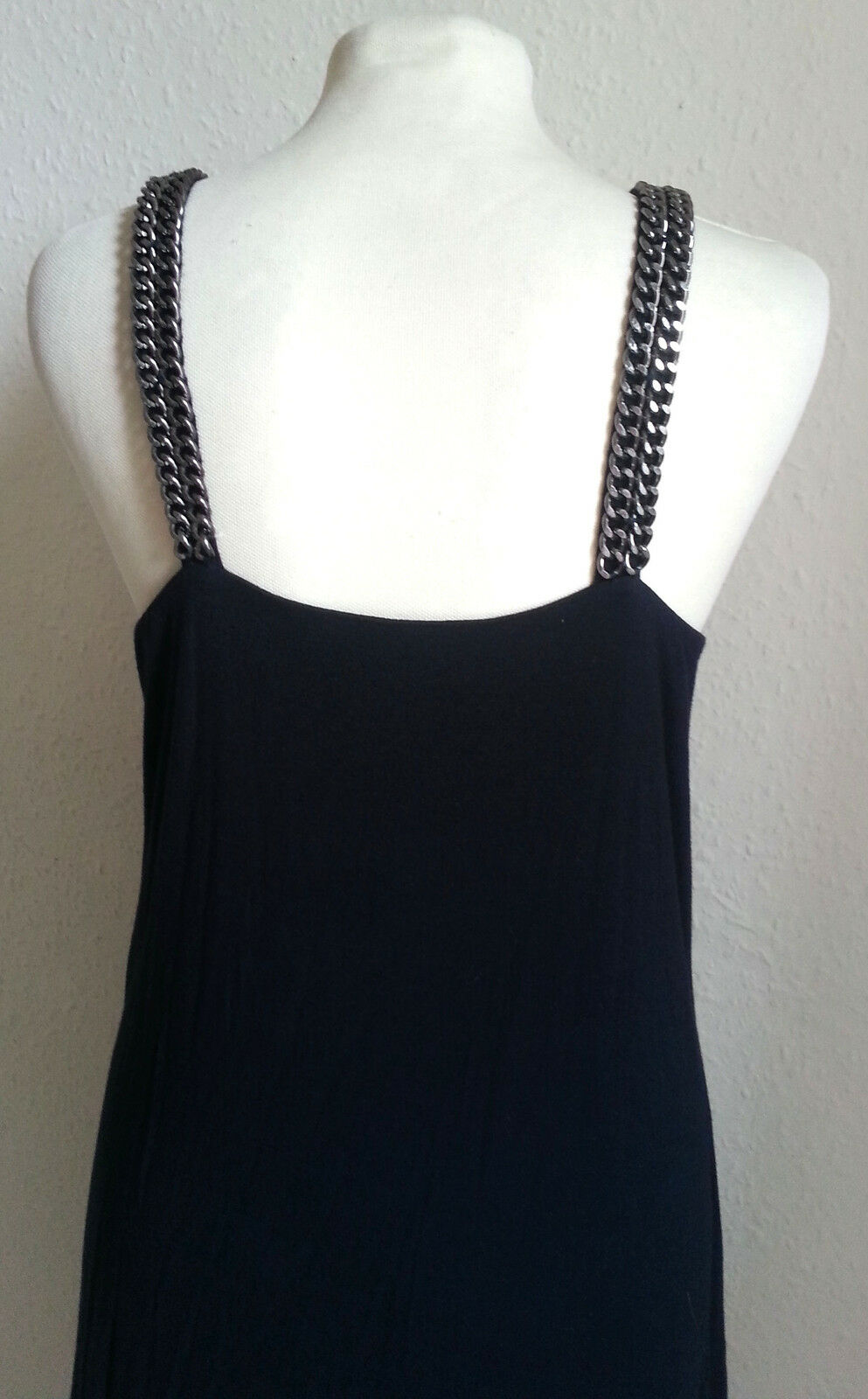 DtLM Don't Label Me Me Me Navy bluee Strappy Party Dress with Curb Chain Trim 42 10 c17a65