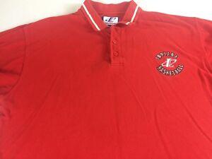 Indiana-Basketball-Polo-Shirt-VTG-Mens-Large-Hoosiers-Alumni-Logo-Athletic-Grad