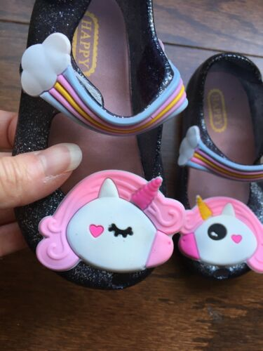 Girls Unicorn Jelly Shoes Size 7//25