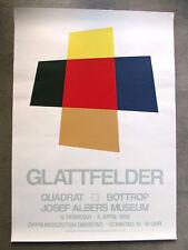 Hansjörg campi liscia-serigrafia-esposizione MANIFESTO - 1992-Saluti quadrato