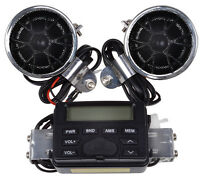 Motorcycle Handlebar Mount Audio Radio Mp3 Speaker Aux Input For Kawasaki Kz Vn on Sale
