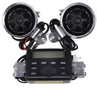 Motorcycle Handlebar Mount Audio Radio Mp3 Speaker Aux Input For Yamaha Cruisers on Sale