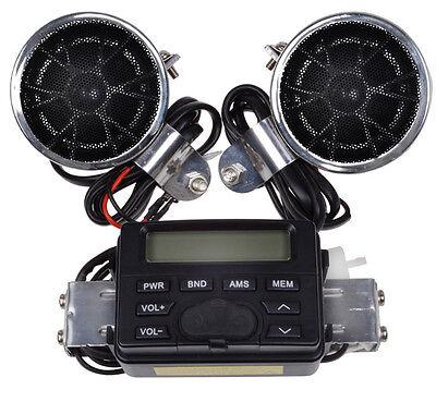Motorcycle Handlebar Mount Audio Radio MP3 Speaker AUX input For Kawasaki KZ VN