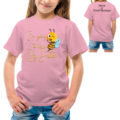Big Sister I am going to be a big Sister Cool Tee Funny Girl T-shirt Gold 1