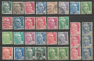 L098-Lot-32-Timbres-Marianne-de-GANDON-1945-1947-1948-1949-1951-1954
