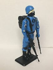 Black Major Custom GI Joe Blue (Soldado) Cobra Trooper Black Logo NEW COLOR!!!