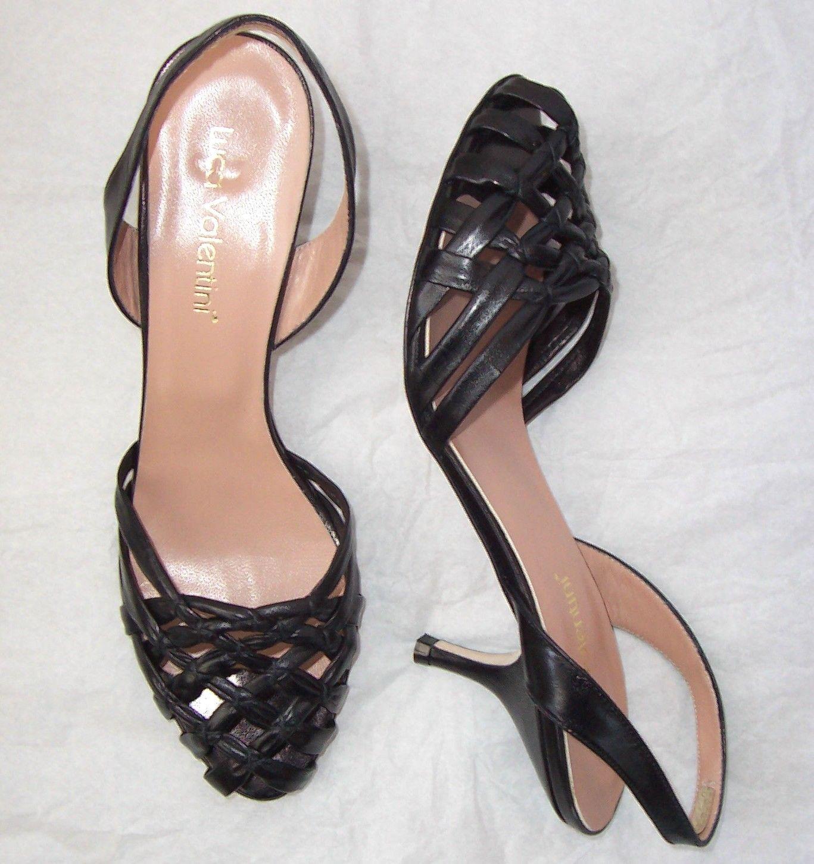 LUCA VALENTINI Cuoio nero Cuoio Slingback Sandals  scarpe 40 10  fino al 65% di sconto
