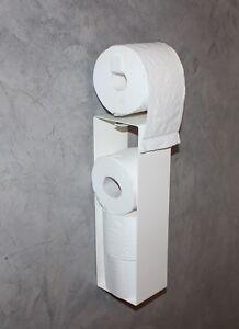 toilettenpapierhalter wc reserve ersatz rollen halter mit abroller ohne bohren ebay. Black Bedroom Furniture Sets. Home Design Ideas