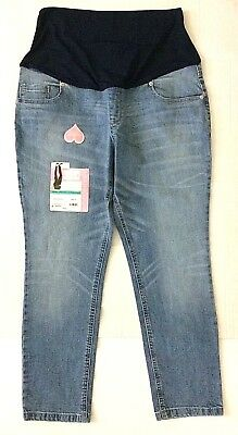 Glorious Maternity Jeans Women's Xl 16-18 Great Expectations Stretch Pull On New Fashionable Patterns