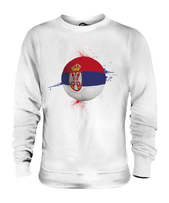 SERBIA FOOTBALL UNISEX SWEATER  TOP GIFT WORLD CUP SPORT