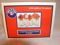 Lionel 6-32902 Construction Signs O 027 2011 6 Signs