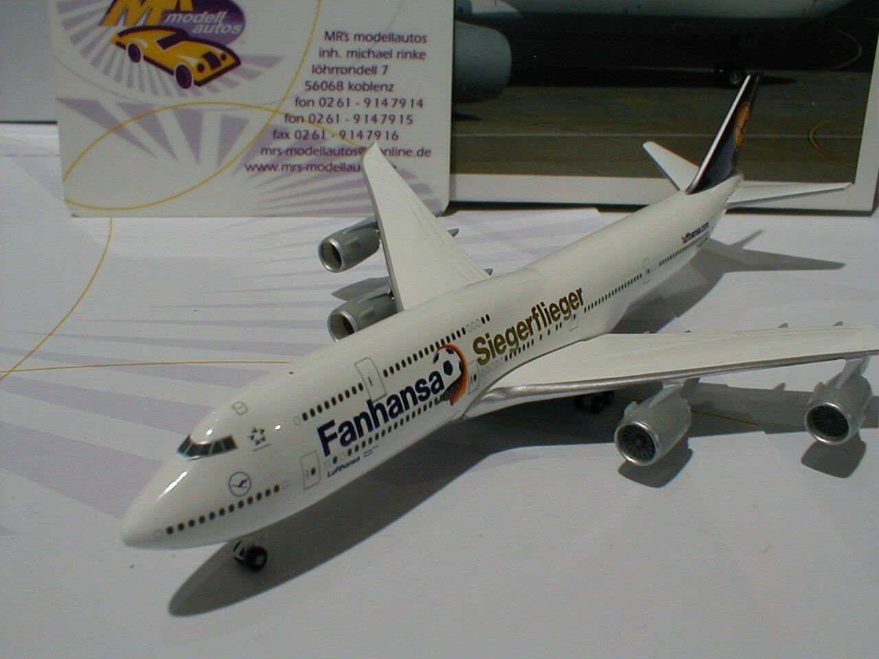 Herpa 527187-Lufthansa Boeing 747-8 D-Abyi Potsdam  Coupe du monde vainqueur aviateur  1 500