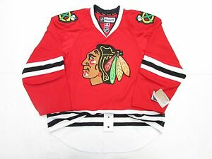 finest selection 90754 8dc65 Details about CHICAGO BLACKHAWKS AUTHENTIC HOME RED REEBOK EDGE 2.0 7287  HOCKEY JERSEY