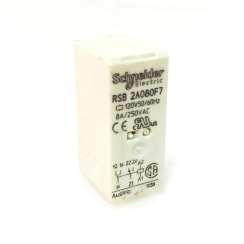Plug in Relay RSB-2A080F7 Schneider 2CO 120VAC RSB2A080F7 *New*