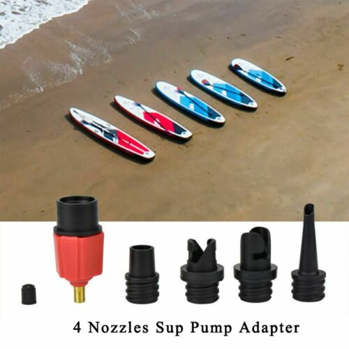 Sup Pump Valve Adapter mit 4 Typ Düsen für Schlauchbootpumpe Schlauchboot ER