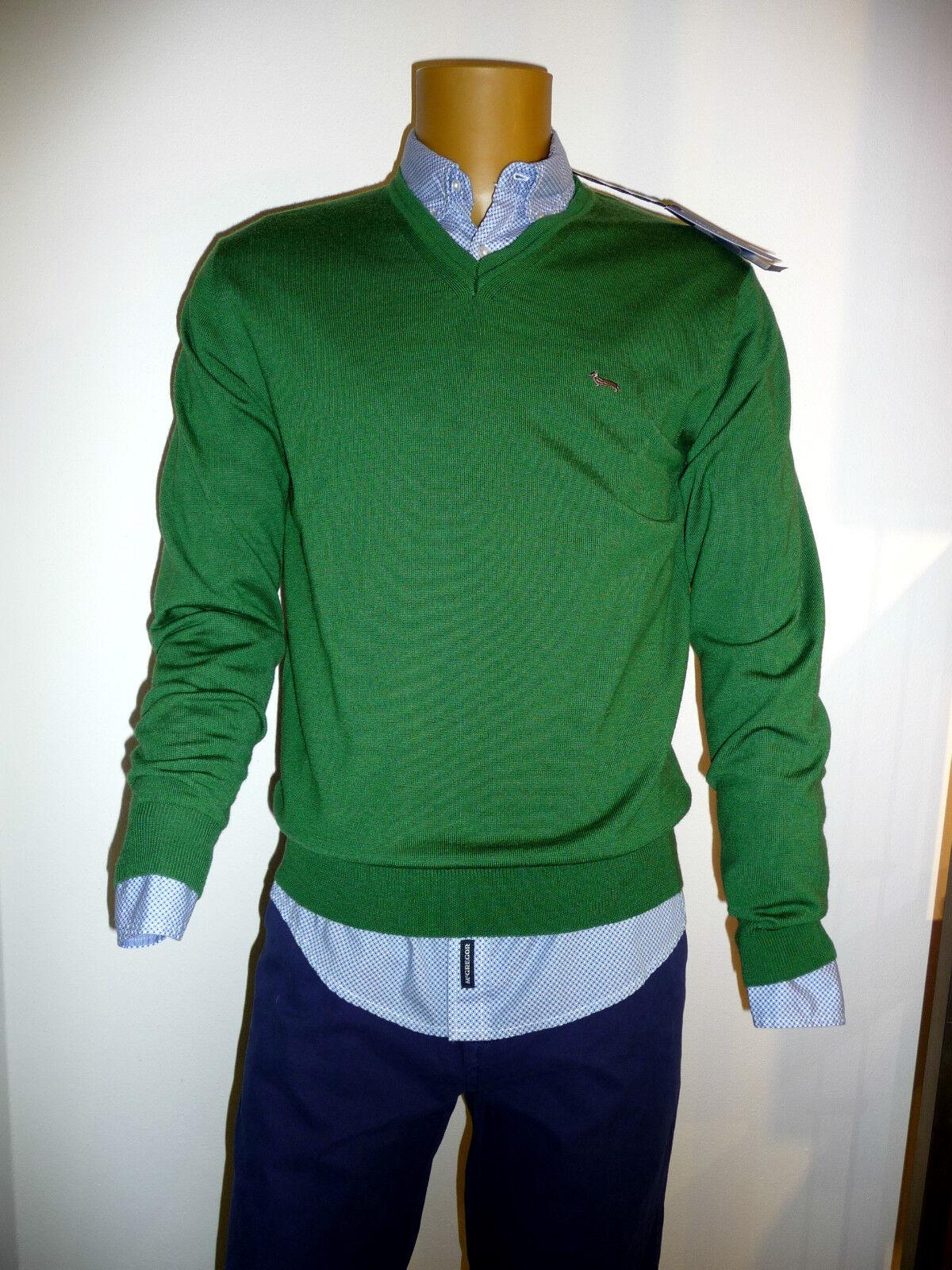 Maglione lana firmato HARMONT & BLAINE nuova collezione A I 2016 color green