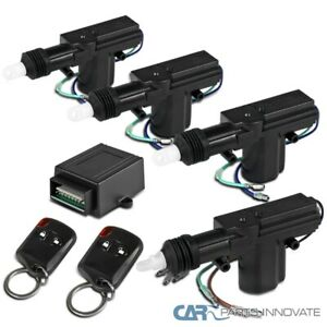 Central Car Power Door Lock / Unlock Conversion Kit Auto Keyless+Remote Key Fob