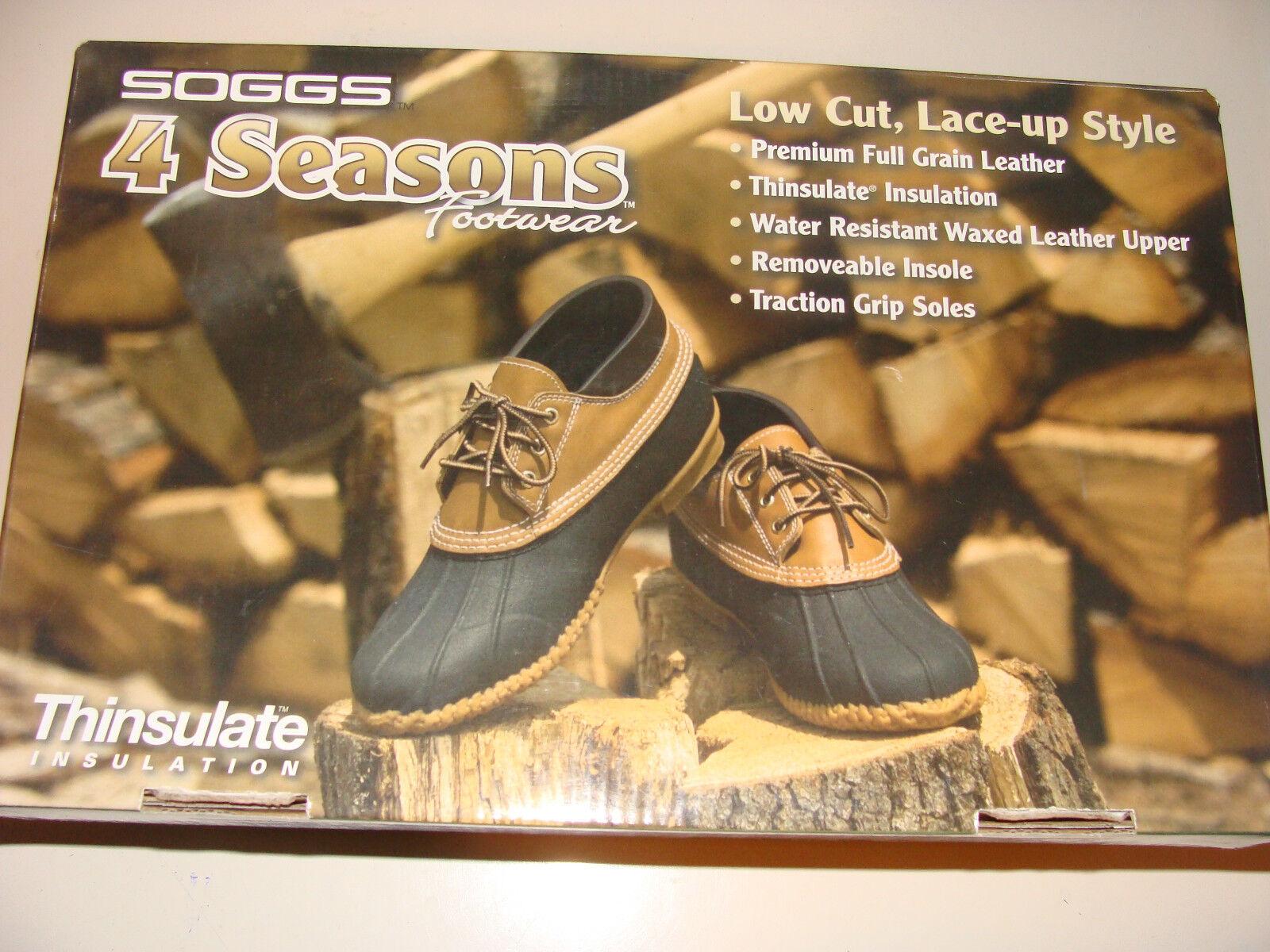negozio online Soggs 4 Seasons Uomo stivali stivali stivali Dimensione 7 Thinsulate Leather Water Resistant NIB scarpe  prezzi più convenienti