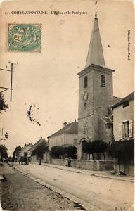 CPA-Combeaufontaine-L-039-Eglise-et-le-Presbytere-636510