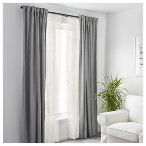 Image Is Loading Ikea Window Curtains Bedroom Net Blinds Panels