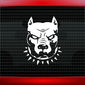 Details about Pitbull #1 Dog Car Decal Window Truck Vinyl Sticker Muscle  Blue Nose 20 COLORS!