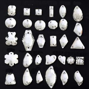 Crystal-AB-Sew-On-Rhinestones-Flatback-Crystal-Glass-Teardrop-Oval-Navette-Beads