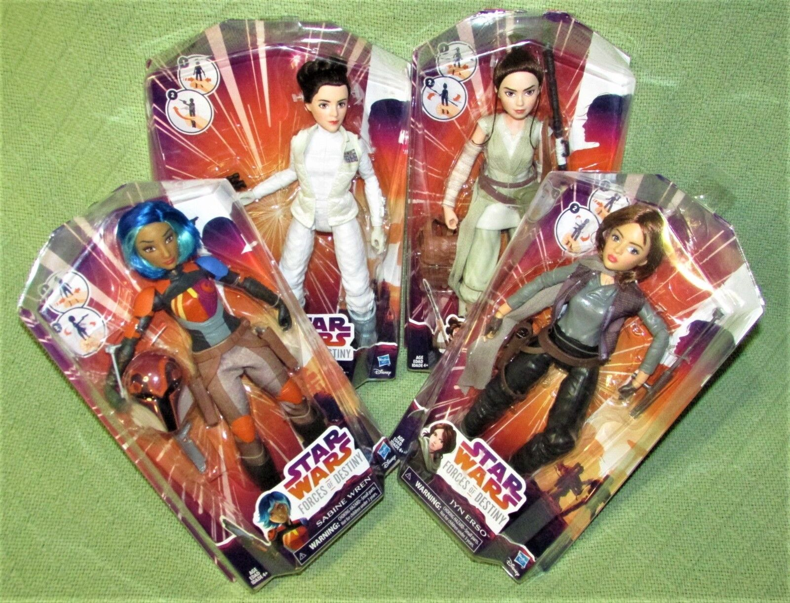 NEW Star Wars FORCES of DESTINY Doll Lot REY Jyn SABINE Princess LEIA R2D2 NIB