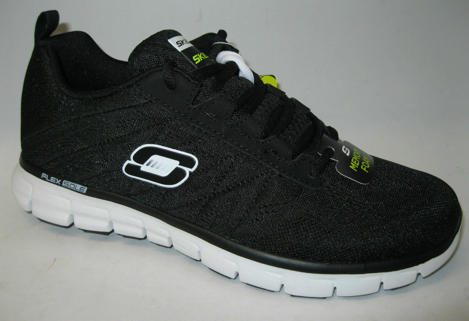 SKECHERS Men's Memory Foam Lace Up Athletic Trainers Power Switch Flex Sole