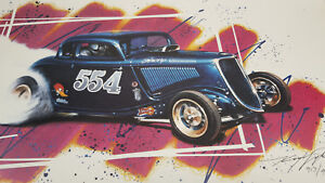 Kenny-Youngblood-20-034-X30-034-poster-art-of-Mooneyham-amp-Sharp-554-Fuel-34-Ford-Coupe