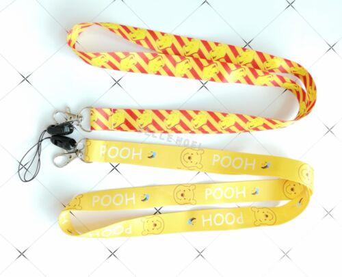 10 pcs pooh Neck Strap Lanyard Key chain Phone Card Badge Holder