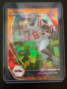 Elijah Moore - 2021 Panini Prizm Draft Picks - Orange Cracked Ice Rookie