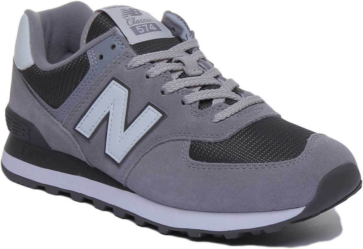 New Balance 574 Classic Men Suede Mesh Steel Trainers UK Size 6 - 12