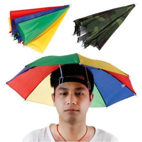 Gorra de pesca portátil para deportes al aire libre 55cm paraguas gorra