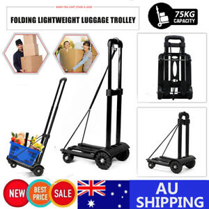 Portable-Folding-Luggage-Cart-Hand-Trolley-Wheel-Shopping-Cart-Truck-Heavy-Duty