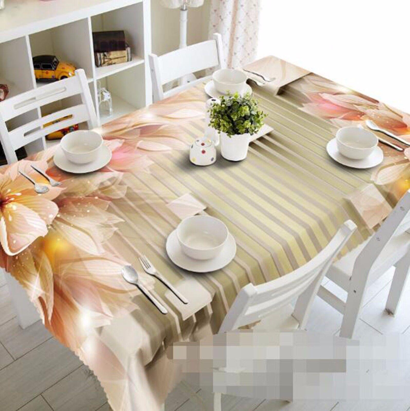 3D Petals 436 Tablecloth Table Cover Cloth Birthday Party AJ WALLPAPER UK Lemon