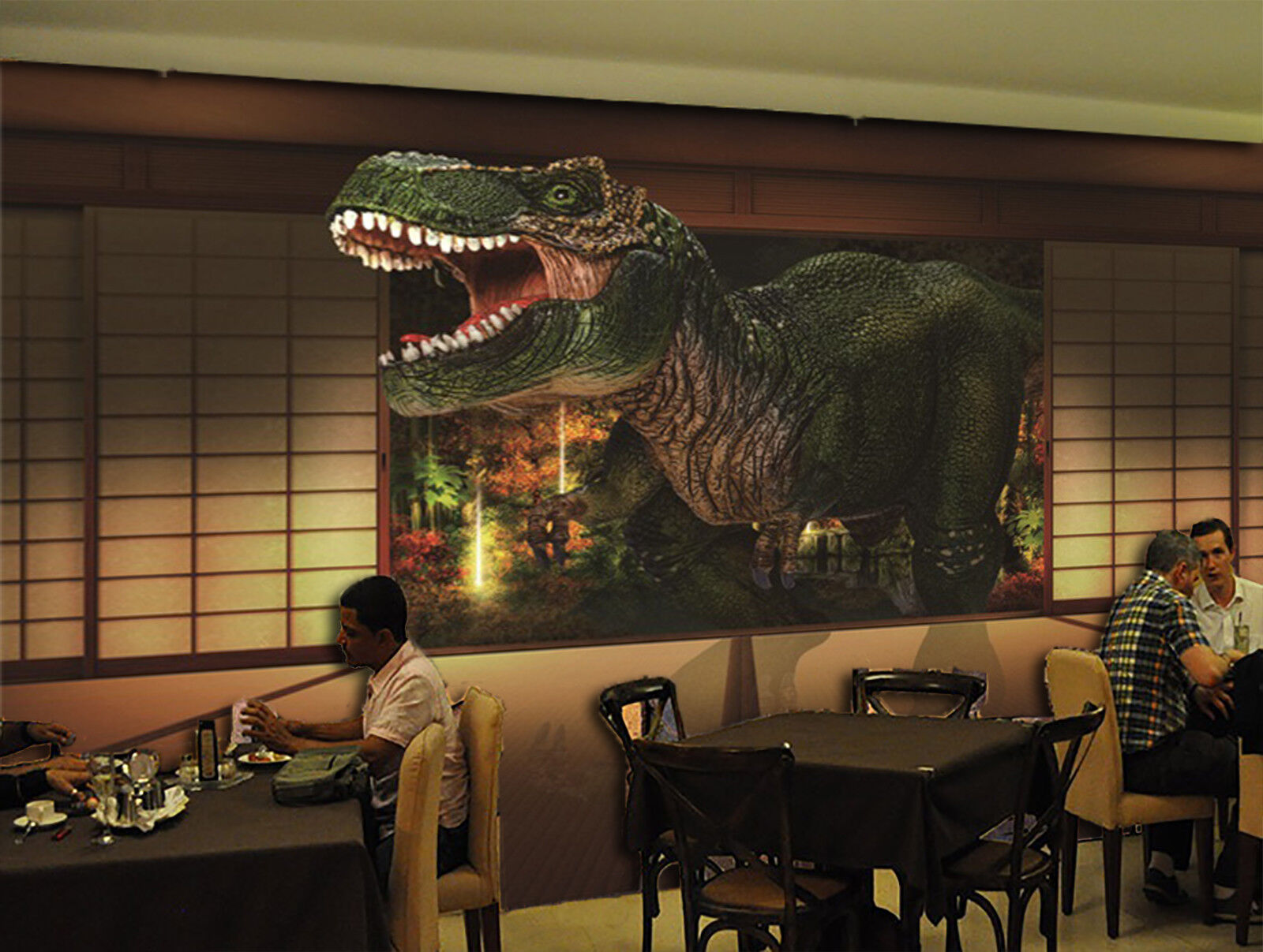 3D Dschungel Dinosaurier 8093 Tapete Wandgemälde Tapeten Bild Familie DE Jenny