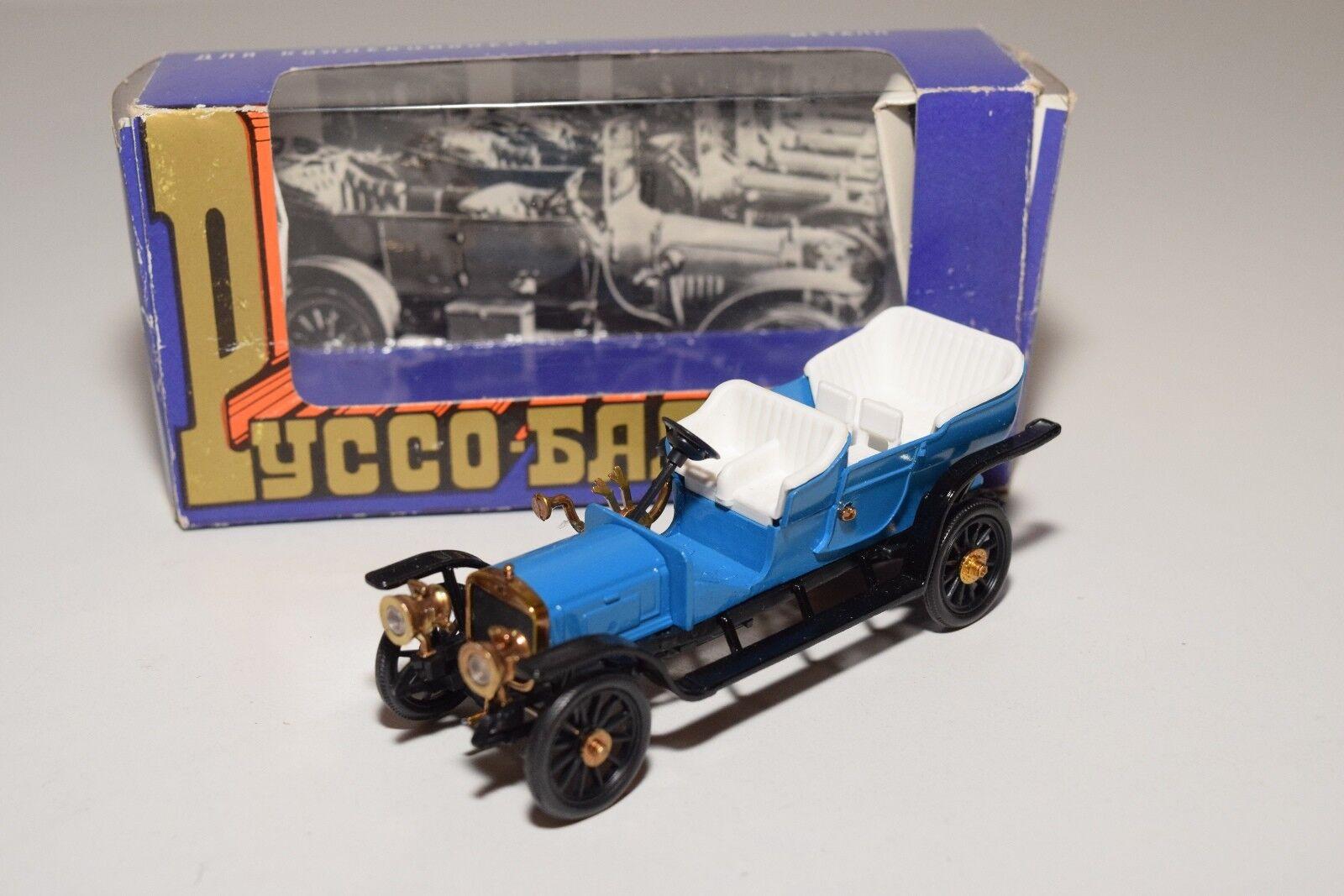 B RUSSIAN CAR USSR USSR USSR CCCP NOVOEXPORT RUSSO BALT RIGA 1915 azul MINT BOXED 23ce66