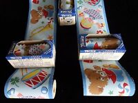 Vintage 1930's Playtime Wallpaper Border Bunnies Ducks Drums Trumpets Dolls Toys