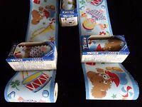 Vintage 1930's Playtime Wallpaper Border Bunnies Ducks Drums Trumpets Dolls Toys