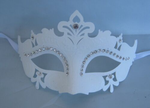 White Venetian Party Masquerade Mask NEW Express Post Option Available