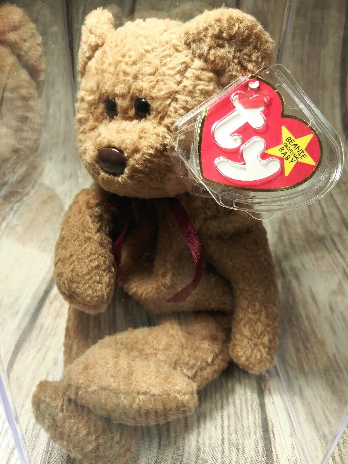 Ty Beanie Babies RARE Retired CURLY w Tag Errors ORIGIINAL Suface PVC1ST EDITION