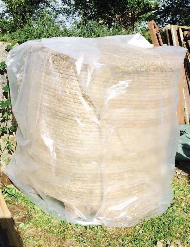 Bala rojoonda cubierta-ronda de heno paja Bale cubre  Paquete de 10
