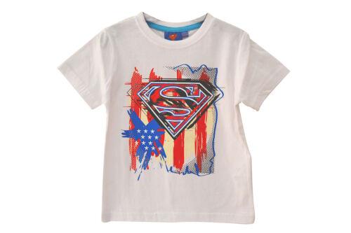 SPIDERMAN SUPERMAN SUPER HERO BOYS T SHIRT TOP AGE 2 3 4 5 6 7 8 FREE P/&P NEW