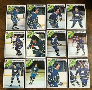 1978-79-o-pee-chee-VANCOUVER-CANUCKS-19-card-team-lot